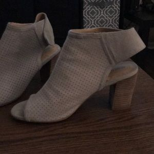 Nordstrom's grey peep toe booties